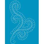 Full Line Stencil Fancy Feather II by Hancy Full Line Stencils Pounce Pads & Quilt Stencils - OzQuilts
