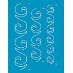 Full Line Stencil Swirl Sashing Border by Hancy Full Line Stencils Pounce Pads & Quilt Stencils - OzQuilts