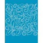 Full Line Stencil Leaf Swirl Block by Hancy Full Line Stencils Pounce Pads & Quilt Stencils - OzQuilts