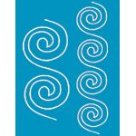 Full Line Stencil Spiral Border by Hancy Full Line Stencils Pounce Pads & Quilt Stencils - OzQuilts