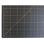 "Tula Pink Hardware Black and Gold Cutting Mat 17"" x 23"" by Tula Pink Cutting Mats - OzQuilts"