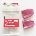 2 Pink Thimbles by The Tulip Company by The Tulip Company  Thimbles