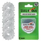 Wide Skip Rotary Blades 45mm (5 Blades) by Precision Quilting Tools Blades - OzQuilts