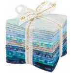 Aqua Spa Batik 20 Piece Fat Quarter Bundle by Robert Kaufman Fabrics Batik - OzQuilts