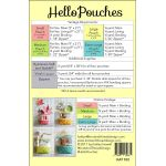 Hello Pouches Pattern by Knot and Thread Designs Organisers