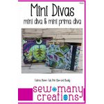 Mini Divas - mini diva & mini prima diva Pattern by Sew Many Creations Bag Patterns