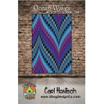 Ocean Waves Quilt Pattern by 3 Dog Design Company Bargello  - OzQuilts