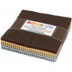 """Kona Cotton Solids Neutral Colorstory 5"""" squares x 85 pieces by  Kona Cotton - OzQuilts"""
