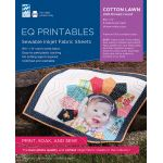 "EQ Printables Premium Cotton Lawn Inkjet Fabric Size 8.5"" x 11"" -6 sheets per pack by Electric Quilt Inkjet Fabric Sheets - OzQuilts"
