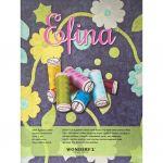 Wonderfil Efina, Pearl Grey (EFS01) 60wt Cotton Thread 150m spool by Sue Spargo Efina Cotton Sue Spargo Efina 60wt Cotton - OzQuilts