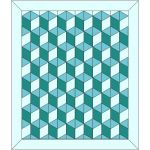 "Rhombus Baby Block 3D Cube Template fits 2.5"" Strips by OzQuilts Custom Quilt Template Sets - OzQuilts"