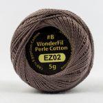 Wonderfil Eleganza, Burnished Steel (EL5G02) 8wt Cotton Thread 5g balls by Wonderfil  Eleganza 8wt Cotton - OzQuilts