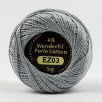 Wonderfil Eleganza, Silverware (EL5G03) 8wt Cotton Thread 5g balls by Wonderfil  Eleganza 8wt Cotton - OzQuilts