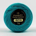 Wonderfil Eleganza, Blue Lagoon (EL5G10) 8wt Cotton Thread 5g balls by Wonderfil  Eleganza 8wt Cotton - OzQuilts