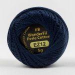 Wonderfil Eleganza, Navy (EL5G12) 8wt Cotton Thread 5g balls by Wonderfil  Eleganza 8wt Cotton - OzQuilts