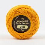 Wonderfil Eleganza, Plump Pumpkin (EL5G206) 8wt Cotton Thread 5g balls by Wonderfil  Eleganza 8wt Cotton - OzQuilts
