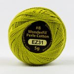 Wonderfil Eleganza, Lemongrass (EL5G31) 8wt Cotton Thread 5g balls by Wonderfil  Eleganza 8wt Cotton - OzQuilts