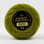 Wonderfil Eleganza, Olive (EL5G32) 8wt Cotton Thread 5g balls by Wonderfil  Eleganza 8wt Cotton - OzQuilts