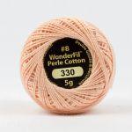Wonderfil Eleganza, Peach Fuzz (EL5G330) 8wt Cotton Thread 5g balls by Wonderfil  Eleganza 8wt Cotton - OzQuilts