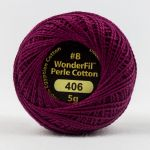 Wonderfil Eleganza, Grape Jelly (EL5G406) 8wt Cotton Thread 5g balls by Wonderfil  Eleganza 8wt Cotton - OzQuilts