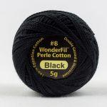 Wonderfil Eleganza, Black (EL5Gblack) 8wt Cotton Thread 5g balls by Wonderfil  Eleganza 8wt Cotton - OzQuilts
