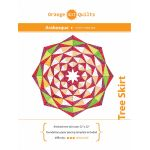 Arabesque Christmas Tree Skirt Pattern & Papers by Orange Dot Quilts Patterns & Foundation Papers - OzQuilts