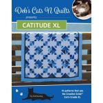Catitude XL Book :10 Pattern for the Creative Grids Cats Cradle XL Ruler by Deb's Cats N Quilts Designs Techniques - OzQuilts