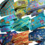 "Sue Spargo Bird Dance Designer Ribbon 7/8"" wide by Tula Pink Bag Making Accessories - OzQuilts"
