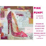 Pink Pump Collage Pattern by Fiberworks Collage  - OzQuilts