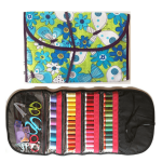 Karen Kay Buckley Perfect Thread Bags Lime & Turquoise Floral by Karen Kay Buckley Organisers - OzQuilts