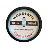 Rinse 'n Gone Washaway Thread by Wonderfil  Water Soluble Thread - OzQuilts