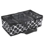 Black & White Fabric Storage Organiser - 45 x 26 x 14cm by Birch Organisers - OzQuilts