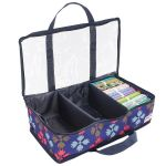 Navy Fabric Storage Organiser - 45 x 26 x 14cm by Birch Organisers - OzQuilts