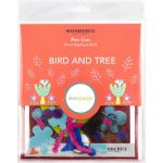 Sue Spargo Bird and Tree Colourway1 Precut Wool Kit by Wonderfil  Sue Spargo Wool Felt PreCut Kits - OzQuilts