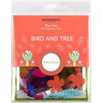 Sue Spargo Bird and Tree Colourway 3 Precut Wool Kit by Wonderfil  Sue Spargo Wool Felt PreCut Kits - OzQuilts