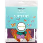 Sue Spargo Butterfly Colourway 4 Precut Wool Kit by Wonderfil  Sue Spargo Wool Felt PreCut Kits - OzQuilts
