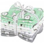 Penned Pals Cotton Flannel Mint 10 Fat Quarter Bundle by Robert Kaufman Fabrics Fat Quarter Packs - OzQuilts