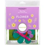 Sue Spargo Flower Colourway 3 Precut Wool Kit by Wonderfil  Sue Spargo Wool Felt PreCut Kits - OzQuilts