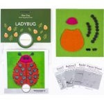 Sue Spargo Ladybug Colourway 3 Precut Wool Kit by Wonderfil  Sue Spargo Wool Felt PreCut Kits - OzQuilts