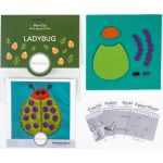 Sue Spargo Ladybug Colourway 4 Precut Wool Kit by Wonderfil  Sue Spargo Wool Felt PreCut Kits - OzQuilts