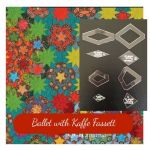 Ballet with Kaffe Fassett Halo Template Set from Millefiori Quilts 2 - Original Size with 3/8 seam allowance by OzQuilts EPP Templates - OzQuilts