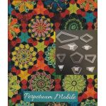 Perprtuum Mobile Template Set from Millefiori Quilts 3 -  Halo Set in Original Size by OzQuilts Millefiori Book 3  - OzQuilts