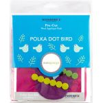 Sue Spargo Polka Dot Bird Colourway 1 Precut Wool Kit by Wonderfil  Sue Spargo Wool Felt PreCut Kits - OzQuilts