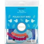 Sue Spargo Polka Dot Bird Colourway 3 Precut Wool Kit by Wonderfil  Sue Spargo Wool Felt PreCut Kits - OzQuilts