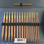 Addi Nature Click Case - Olive Wood Circular Needle Set and Storage Pouch by Addi Knitting Needles - OzQuilts
