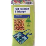 Matildas Own Precut Half Hexagon & Triangles Template Set (4 Pieces) by Matilda's Own Quilt Blocks - OzQuilts