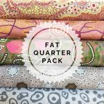 Aboriginal Art Fabric 5 Fat Quarter Bundle - Ash Pink by M & S Textiles Fat Quarter Packs - OzQuilts