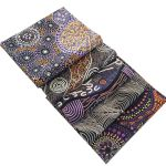 Aboriginal Art Fabric 5 Fat Quarter Bundle - Purple, Black & Orange by M & S Textiles Fat Quarter Packs - OzQuilts