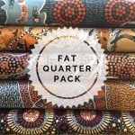 Aboriginal Art Fabric 5 Fat Quarter Bundle - Brown Gold Colourway by M & S Textiles Fat Quarter Packs - OzQuilts