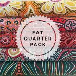 Aboriginal Art Fabric 5 Fat Quarter Bundle - Black, Red & Yellow by M & S Textiles Fat Quarter Packs - OzQuilts